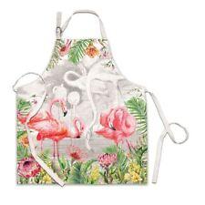 Michel Design Works Cotton Chef's Apron Watercolor Flamingo