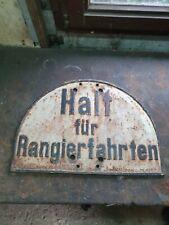 Original Bahnschild