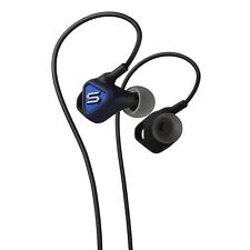 Genuine SOUL Electronics Pulse Ultra-Light Reversed Fit Earphones with Mic Blue