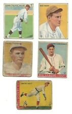 New listing 1933 Goudey Baseball 5 Card lot Pittsburgh Pirates #36, 60, 77, 205, 206 -- HOYT