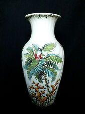 Vase en faïence de Gien décor Tamarin