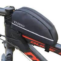YANHO MTB Bicycle Oxford Front Frame Tube Tools Bag Cycling Panniers Saddle Bag