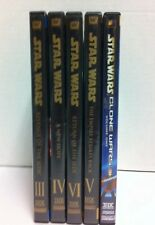 Star Wars DVDs 3 - 6 Revenge, Hope, Empire, Return, Clone Wars 1 Lot Full Screen