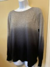 360 Cashmere Ombre Fade Dip Dye Sweater Womens Large