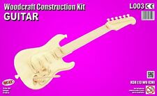 Guitar Woodcraft Construction Kit- 38cm Wooden Model Kit Toy Game for Children