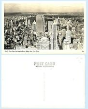 Aerial North View Empire State Building New York City Rppc Real Photo Postcard