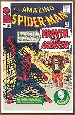 Amazing Spider Man  #15 poster art print '92  Steve Ditko  Kraven The Hunter