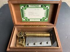 thorens music box, vintage, antique, 4 songs Switzerland made,