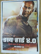 Die Hard 4 2007 bruce willis Rare Poster Film India Promo Orig Hindi Eng