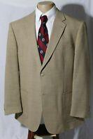 Kroon Men's Beige Wool Blend Side Vent Patch Sport Coat Jacket Blazer Size 44R