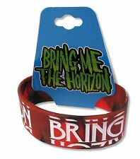BRING ME THE HORIZON - RED WHT SILICONE WRISTBAND NEW NWT OFFICIAL BMTH