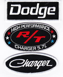 DODGE CHARGER 5.7L R/T SEW/IRON ON PATCH EMBROIDERED HEMI MOPAR PERFORMANCE