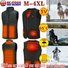 Electric USB Heated Vest Jacket Coat Warm Up Heat Pad Cloth Body Warmer Unisex.