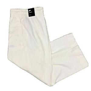 Nike Capris Sportswear Jersey White Training Ankle Pants Loose Fit