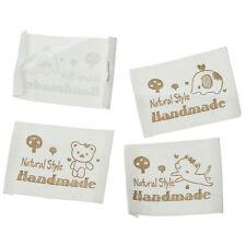 50 Stück LABEL ETIKETTEN BORTE Ribbon Webband ♥ HANDMADE ♥ 6 cm Baumwolle