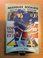 O-Pee-Chee 2019-2020 GOLD BORDER ADAM FOX MARQUEE ROOKIE HOCKEY CARD #622
