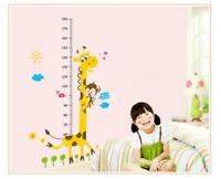 Giraffe Children Room Decor Wall Stikers Hot Selling Kindergarten Height Growth