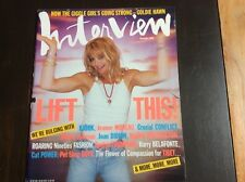 Interview Magazine September 1996 Goldie Hawn Jeanne Moreau Pet Shop Boys