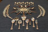 Lunt Eloquence Sterling Silver Complete Flatware 62 Piece Silverware Set For 12