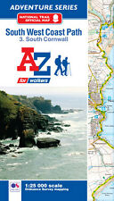 South West Coast Path South Cornwall Adventure Atlas by A-Z Maps Paperback