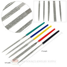 Diamond Coated Needle Files 5 Piece Steel Abrasive File Tool Set Jewelers Hobby