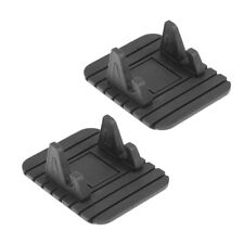 2Pieces Silicon Car GPS Anti Slip Mat Pad Holder Support de support de