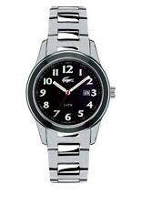 New Authentic LACOSTE Watch Advantage Black Stainless Steel Rubber