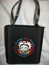 Betty Boop purse handbag Bag Embroided Louisiana Texas Cowboy new