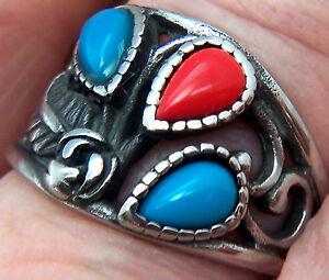 Stainlesss Steel Rings Wheeler Mfg. Turquoise Man Made New Jewelry 3166tu NEW