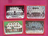1973-74 OPC LEAFS + BLUES + SABRES + PENGUINS  TEAM PHOTO  CARD (INV# C5374)