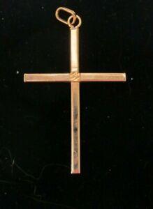 Brand New 9ct Rose Gold Cross £70 or Best offer Freepost