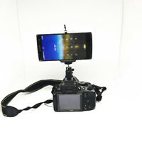 """Smartphone Ball Head Mount Clip Adapter Holder with Hot Shoe & Tripod Screw 1/4"""""""
