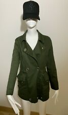 Sandro Khaki Green Parka Jacket Blazer Size 36 UK 6-8-10 Great Condition!