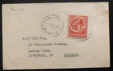 1936 Samarai Papua New Guinea Cover To Liverpool England