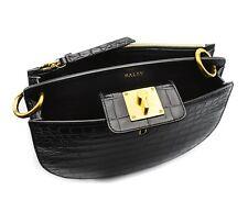 Bally Cecyle Women's Black Calf Leather Crossbody Bag Made in Italy NIB