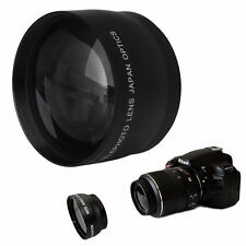 52mm High Speed 2x Telephoto Lens for Nikon AF-S DX Nikkor 18-55mm AF-S 55-200mm