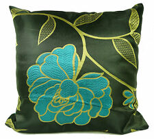 """Set of 4 Cushions Jacquard Floaral Cushions or Covers 17x17"""" Filled"""