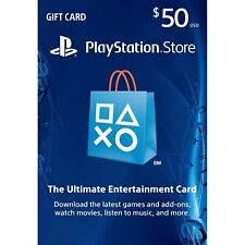 Playstation Network $50 USD 50 Dollar PSN US Store Card - Digital Code PS4 PS3