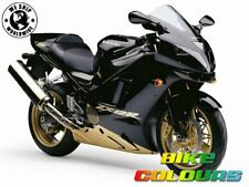 2 COLOUR KAWASAKI TOUCH UP PAINT KIT ZX12R 02 - 03 MYSTIC BLACK & CRESCENT GOLD.