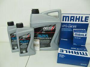 MAHLE Ölwechselsatz und 7Ltr. CAR 5W30-LL Motoröl BMW 5er F10/F11 und 7er F01