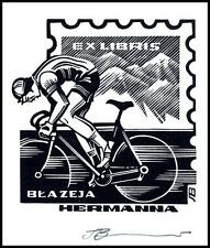 Leonenko Vasyl 1991 Exlibris X3 Cyclist Bicycles Bike Fahrrad Vélo Rower 399