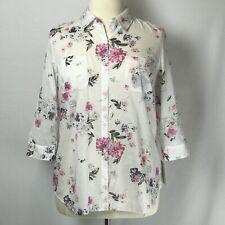 Croft & Barrow Blouse NWT Women's Floral Button Up Top Size XL