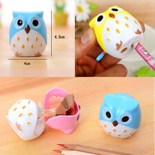 Mini Cute Lovely Owl Pattern Pencil Sharpener School Kids Favorite Beautiful