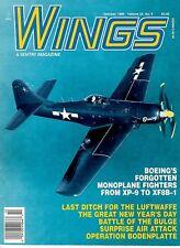 WINGS V24 N5 WW2 OPERATION BODENPLATTE FW-190D_BOEING MONOPLANE FIGHTERS *MINT*
