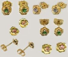 Gold Earrings Alexandrite Antique 19thC Russia Natural Handcut Color-Change 14kt