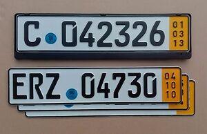 GERMAN license plate + SEAL / frame European tag Audi Volkswagen Volvo EURO pair
