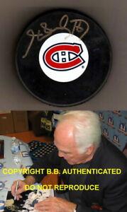 HENRI RICHARD SIGNED AUTOGRAPH MONTREAL CANADIENS NHL HOCKEY PUCK W/ COA & PROOF