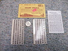 "Champ decals HO Alphabet Numerals L-19 Antique black 1/4""  J13"
