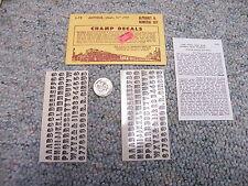 "Champ decals HO Alphabet Numerals L-19 Antique black 1/4""  J13"