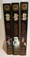 Original Star Wars Special Edition VHS Tapes Empire Strikes Back Return Jedi